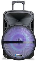 Technical Pro Pvolt15lbt Active 15-inch Bluetooth Powered Speaker With Led Light - 300 Watts Peak Power