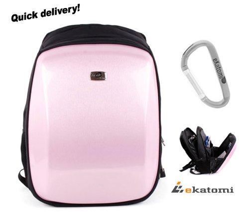 Carbon Fiber Like, Hard Case Cover Backpack Laptop Travel Bag for your 13
