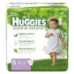 Huggies Pure & Natural Diapers Jumbo Pack Size 5 20ct.