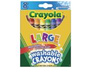 8ct Washable Crayons 52-3280