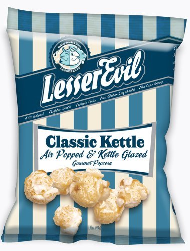LesserEvil Classic Kettle Corn, 1.75-Ounce Bags (Pack of 24)