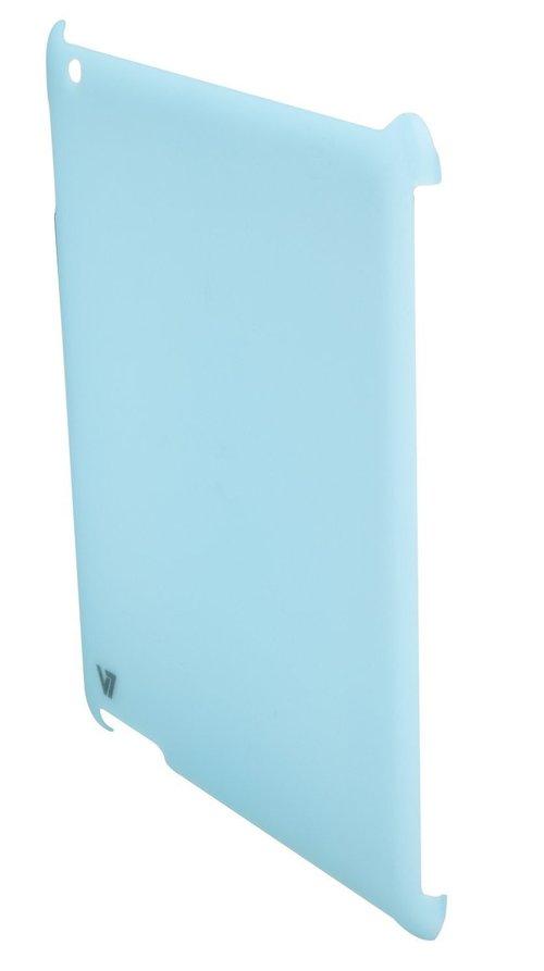 V7 Ta15blu-cf-9n Ultra Slim Back Cover And Protective Film For Ipad2 - Blue