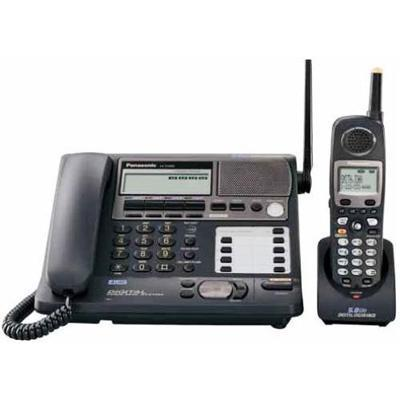 KX TG4500B - cordless phone w/ corded handset  answering system & caller ID