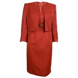 Kasper Women's Business Suit Dress Set (8P, Dark Rust)