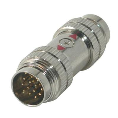 C2g 42058 Rapidrun - Video / Audio Coupler - 15 Pin Rapidrun (m) To 15 Pin Rapidrun (m) - Chrome