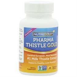 NutriGold Milk Thistle Extract - Pharma Thistle GOLD, 30 to 701 Extract with 80 Silymarin (1 Pharmaceutical Grade Liver Support Supplement for Liver Detox and Cleanse)90 Vegetarian Capsules