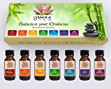 7 Chakra Oils Essential Oils Kit (Floral) Set of 7 Oil Bottles (0.5 oz/15 ml) each, the original essential oils to balance the chakras, Save 40% Off 7chakraoils