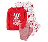 Carter's Girls' 2T-16 4-Pc. All You Need is Love Snug Fit Cotton Pajama Set 24 Months