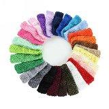 Cute Baby Headbands Crochet Elastic Hair Bands for Kids Girl Women Headwear 24pcs