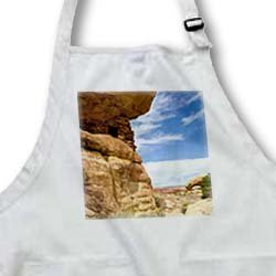 Utah, Canyonlands NP. Grainery in sandstone cliff - US45 CCR0034 - Charles Crust - Medium Length Apron With Pouch Pockets 22w X 24l