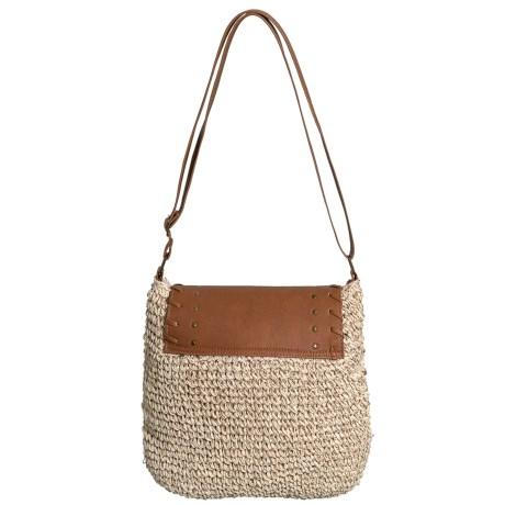 Natural Straw Crochet Crossbody Bag (for Women)