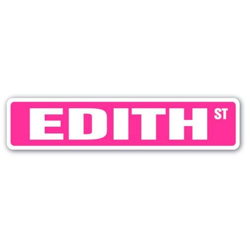 EDITH Street Sign name kids childrens room door bedroom girls boys gift