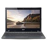 "Acer Nx.mjaaa.004 C720p-29554g01aii 11.6"" Touchscreen Led Chromebook - Intel Celeron 2955u Dual-core (2 Core) 1.40 Ghz - 4 Gb Ddr3l Sdram Ram - 16 Gb Ssd - Intel Hd Graphics - Chrome Os 64-bit - 1366 X 768 16:9 Display - Bluetooth - Wireless Lan"