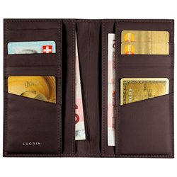 LUCRIN - Wallet for 12 credit Cards - Smooth Cow Leather - Burgundy