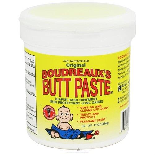 Boudreaux's Butt Paste, Orignal Diaper Rash Ointment Jar, 16 oz