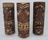 Set/3 6 Inch Tiki Statues - Tiki Bar Decor