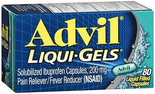 Advil Pain Reliever/Fever Reducer Liqui-Gels, 200 mg - 80 ct, Pack of 2