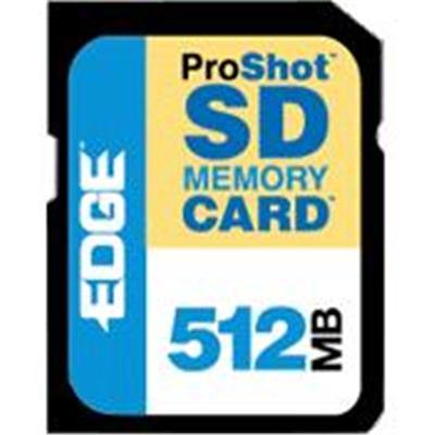 Edge Memory Pe200527 Digital Media Proshot - Flash Memory Card - 512 Mb - 60x - Sd