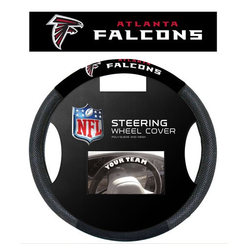 Fremont Die Inc Atlanta Falcons Poly-Suede Steering Wheel Cover Steering Wheel Cover