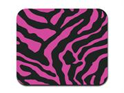 Zebra Print - Pink and Black Mousepad Mouse Pad