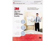 3m 570 Professional Flip Chart Pad, Unruled, 25 X 30, White, 40 Sheets/pad, 2/carton