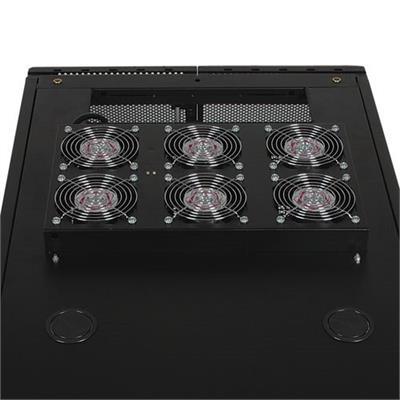 Tripplite Srfanroof Smartrack Roof-mounted Fan Panel - 6-120v High-performance Fans  630 Cfm  5-15p Plug