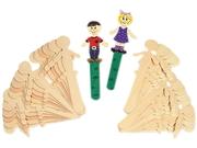 Chenille Kraft 3645-02 People-Shaped Wood Craft Sticks, 5 3/8