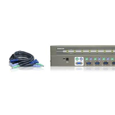MiniView PS/2 KVM Switch GCS78KIT - KVM switch - 8 ports - rack-mountable