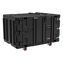 "Pelican Classic V Shipping Case   External Dimensions  45.8"" Length x 27"" Width x 24.3"" Depth   170 lb   Stackable   Stainless Steel, Aluminum, Rotomolded Polyethylene   Black"