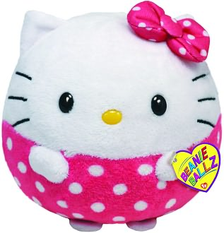 Hello Kitty Beanie Ballz with Pink Polka Dots 5 inch Plush