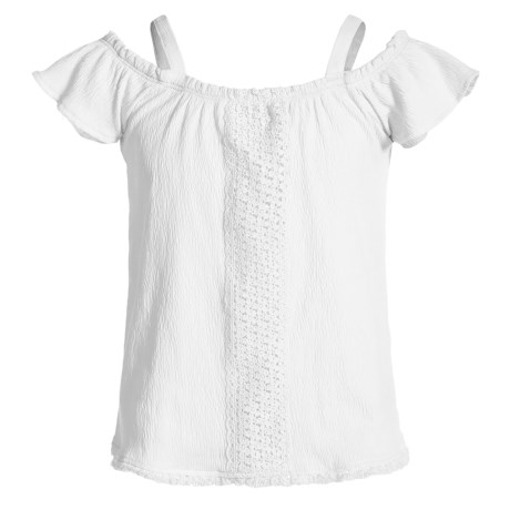Cold-shoulder Shirt - Short Sleeve (for Little Girls)