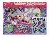 Melissa & Doug Peel & Press Sticker by Number (Butterfly Garden)