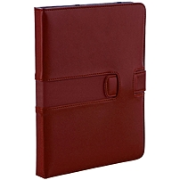 "M-edge Executive Jacket Carrying Case For Digital Text Reader - Red - Microfiber Leather, Microsuede Interior - 7.8"" Height X 6.3"" Width X 0.8"" Depth Ak3-ep1-gl-r"