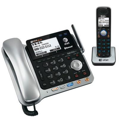 At&t Tl86109 Tl86109 Dect 6.0 2-line Expandable Corded/cordless Phone With Bluetooth Connect To Cell  Answering System And Base Speakerphone  1 Corded Handset A