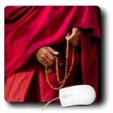 3dRose India Jammu and Kashmir Ladakh Leh Monk Holding Prayer Beads Mouse Pad (mp_188102_1)