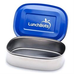LunchBots Uno Stainless Steel Food Container, Blue