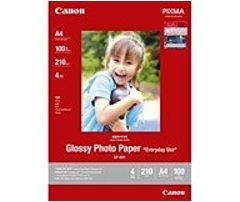 "Canon Gp-601 Photo Paper - 4"" X 6"" - 210 G/m² Grammage - Glossy - 98 Brightness - 100 Sheet 8649b002"