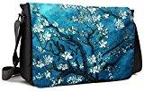 Meffort Inc 15 15.6 Inch Laptop / Notebook Padded Compartment Shoulder Messenger Bag with Shoulder Pad - Vincent van Gogh Almond Blossoming