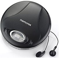 Memorex Md6451blk Portable Cd Player - 2 X Aa Alkaline Batteries (not Included) - Black