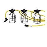 50 Ft Temporary Light String Linkable Constuction Job Site Lighting