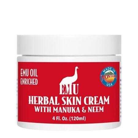 Emu Herbal Skin Cream with Manuka & Neem Montana Emu Ranch Co. 4 oz Cream