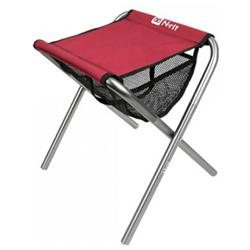 N-Rit Red / Black Large Nano Folding Compact Chair w/ Mesh Pouch & Storage Bag
