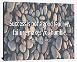 Success is not a Good Teacher Failure Makes you Humble Shah Rukh Khan Success Relentless Fearless Overcome Happiness Joy Prosperity Wood Wall Art Print Photo Image Decor