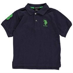 U.S. Polo Assn. Little Boys' Toddler Classic Letters Pique Polo Shirt (Sizes 2T - 4T)