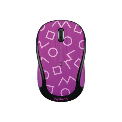Logitech 910-004742 Party Collection M325c - Mouse - Optical - 5 Buttons - Wireless - 2.4 Ghz - Usb Wireless Receiver - Geo Purple