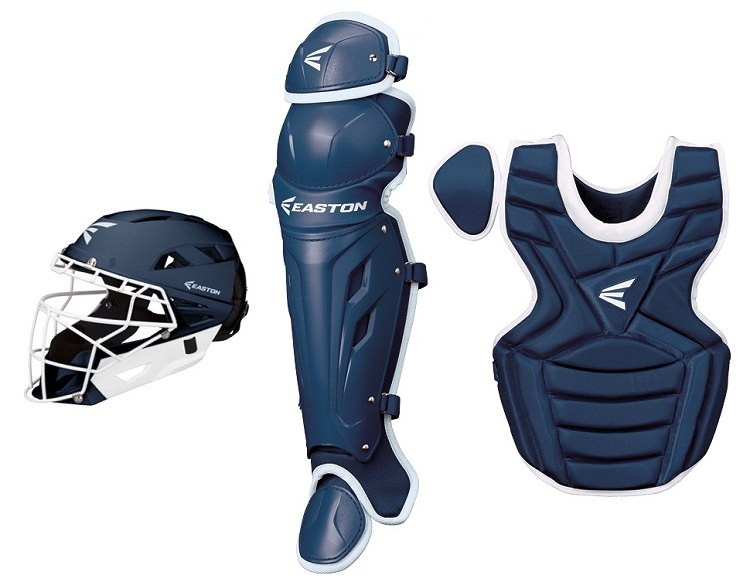 Easton M7 Fastpitch Series Navy / White Youth Catchers Set Age 9-12 New!
