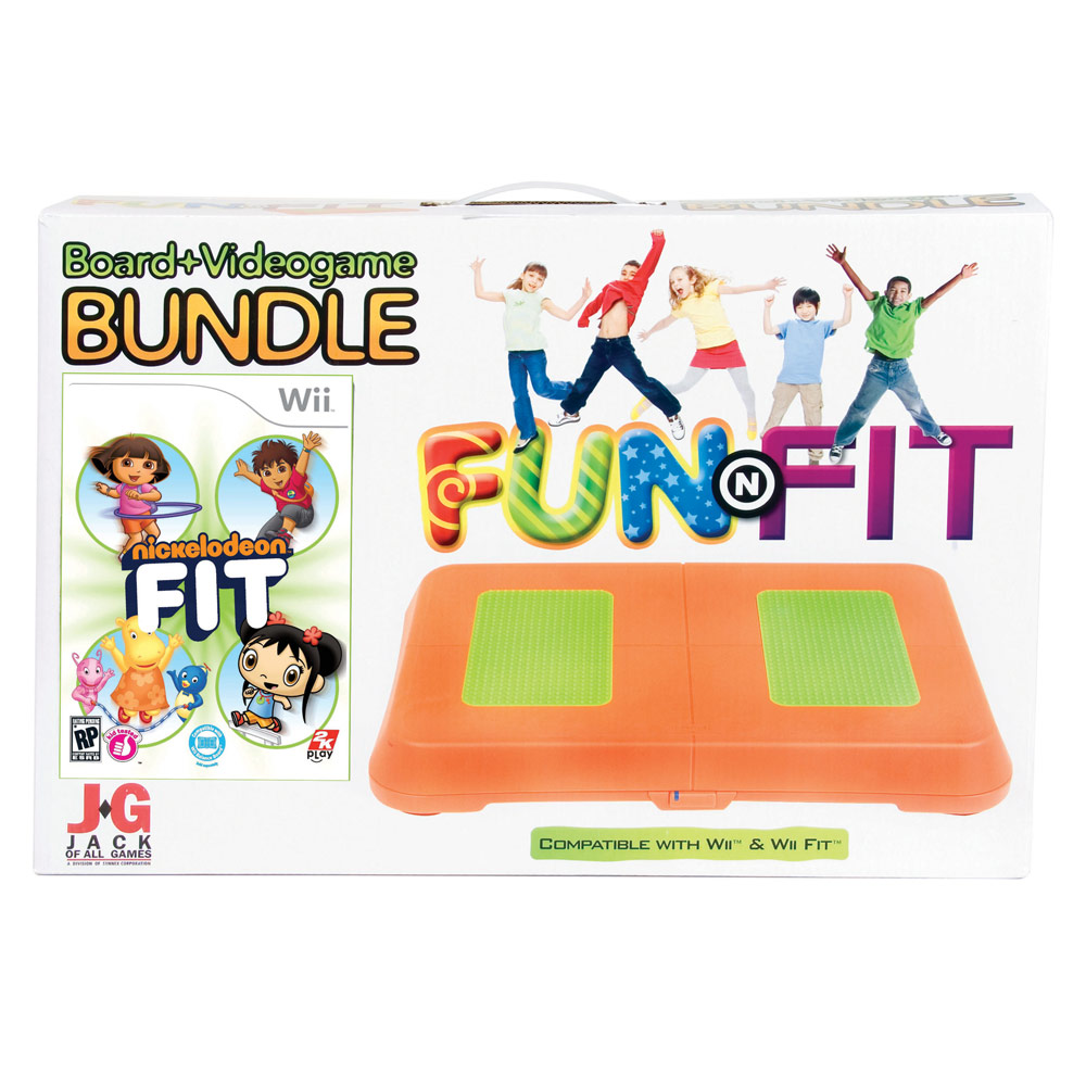 Nickelodeon Fit Bundle with Fun & Fit Balance Board (board compatible with Wii Fit and all Balance Board games)