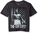 Muhammad Ali Big Boys' the Greatest Short Sleeve T-Shirt, Charcoal Heather, M (10/12)