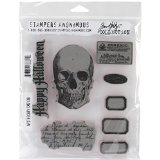 Stampers Anonymous Tim Holtz Cling Rubber Stamp Set, 7 by 8.5-Inch, Apothecary