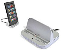 Digipower Kd-st1 Charging Dock For Tablet And Smartphone - Plastic - Silver